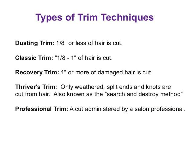 types of trimming